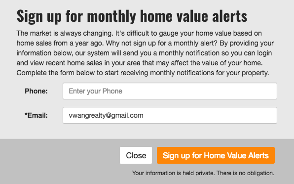 Home Value Alert CTA