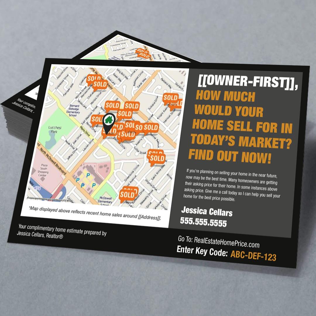 Personalized Home Estimate Postcard