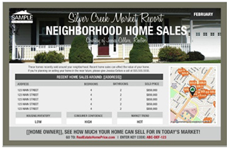 Image of a basic Neighborhood Market Update Postcard