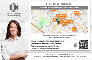 Image of a branded Home Estimate Postcard