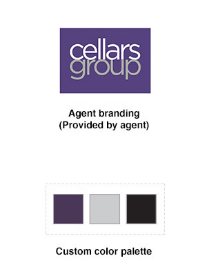 Examples of agent branding and color palette