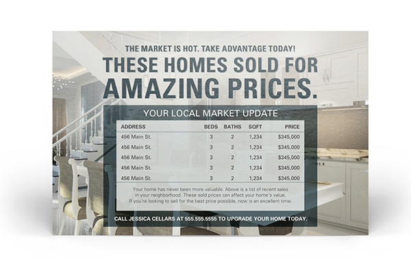 real estate market update postcards