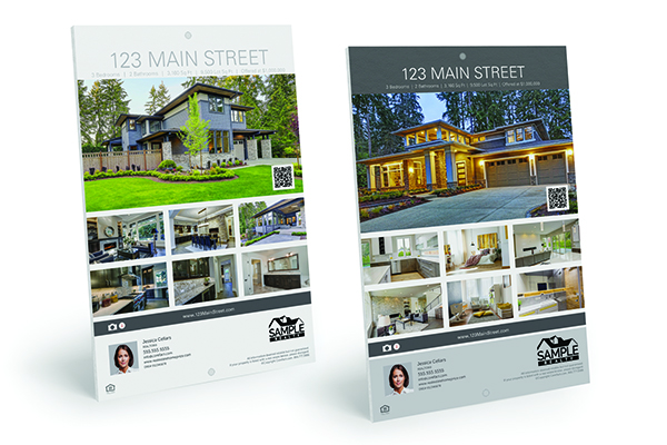 real estate property flyer signs