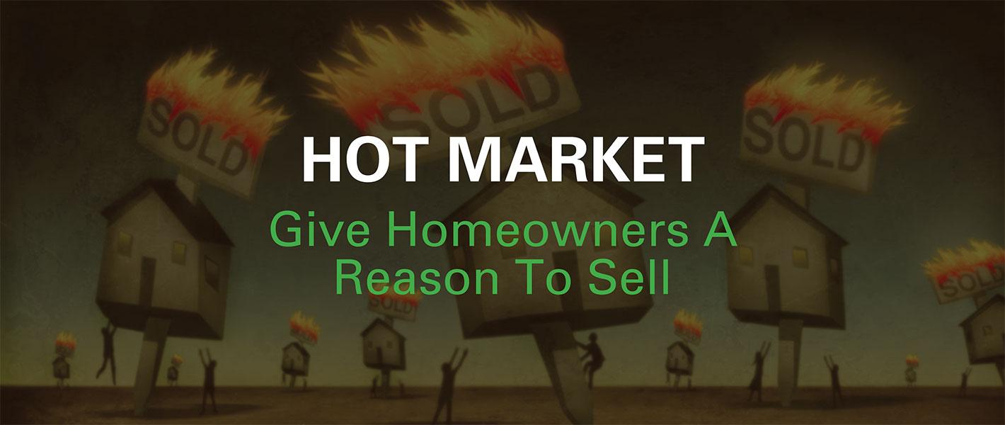 Real Estate Hot Market Postcards